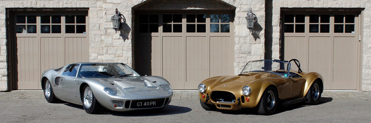 Gold Cobra and GT40